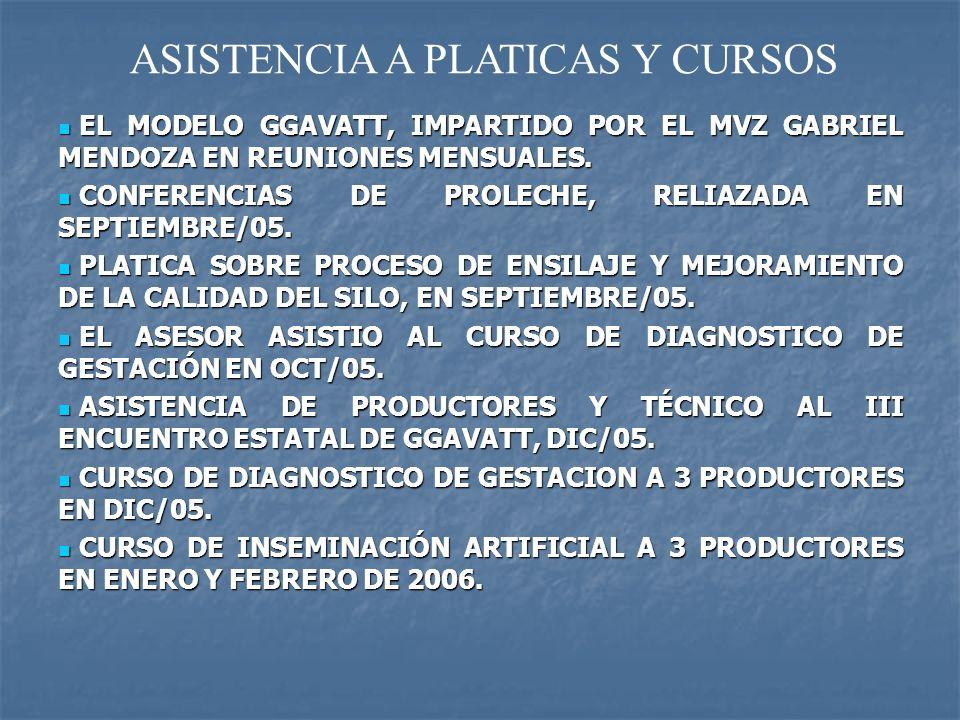 ASISTENCIA A PLATICAS Y CURSOS