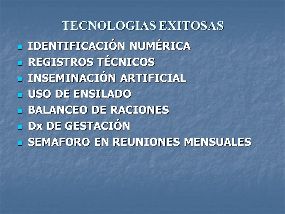 TECNOLOGIAS EXITOSAS IDENTIFICACIÓN NUMÉRICA REGISTROS TÉCNICOS