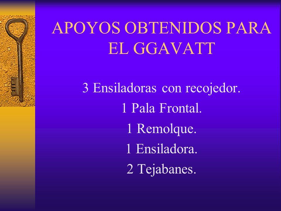 APOYOS OBTENIDOS PARA EL GGAVATT