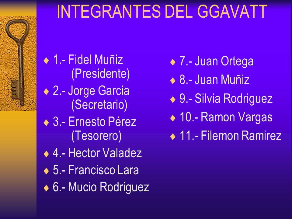 INTEGRANTES DEL GGAVATT