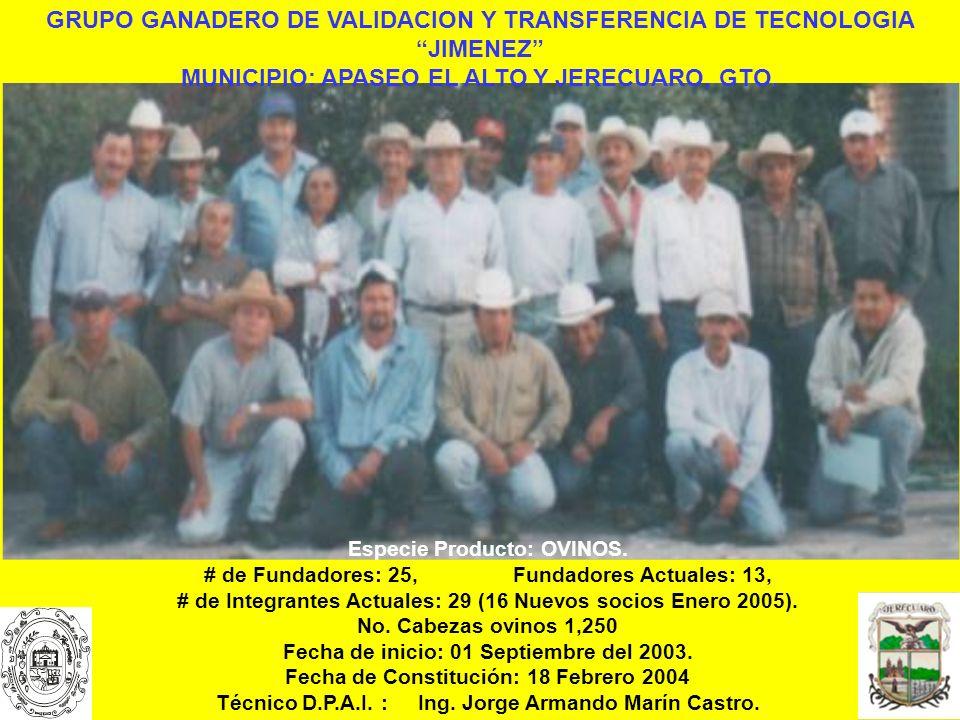 GRUPO GANADERO DE VALIDACION Y TRANSFERENCIA DE TECNOLOGIA JIMENEZ