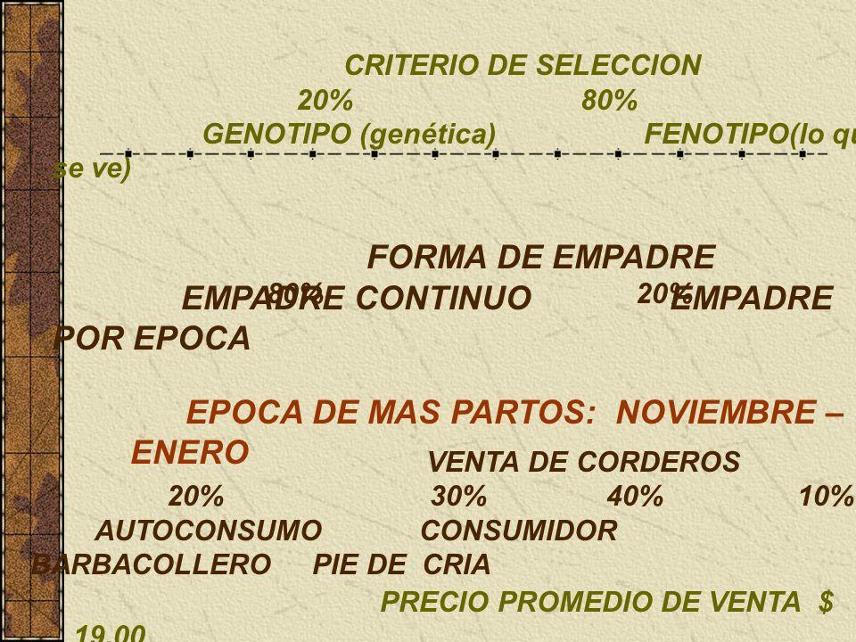 EMPADRE CONTINUO EMPADRE POR EPOCA
