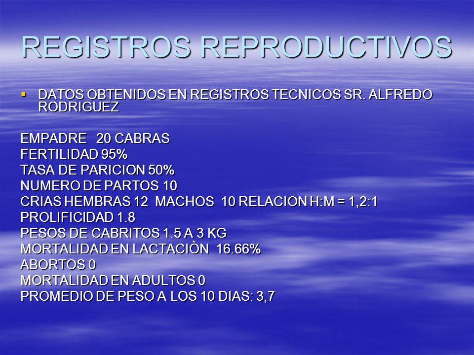 REGISTROS REPRODUCTIVOS