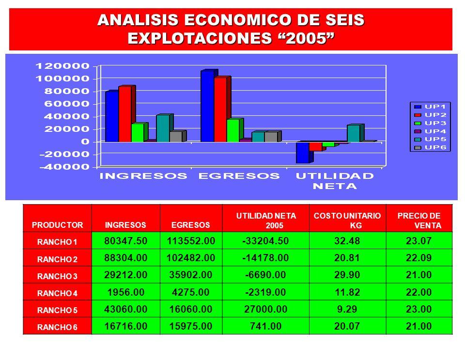 ANALISIS ECONOMICO DE SEIS