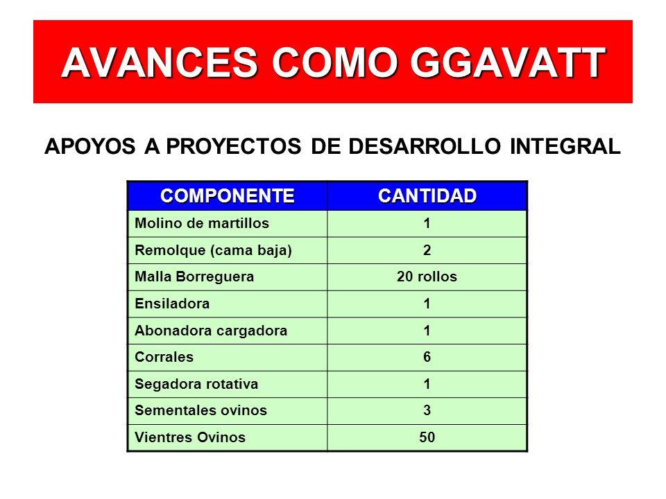 APOYOS A PROYECTOS DE DESARROLLO INTEGRAL