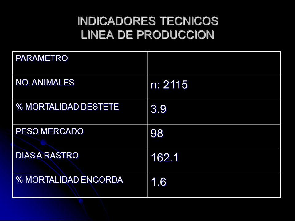 INDICADORES TECNICOS LINEA DE PRODUCCION