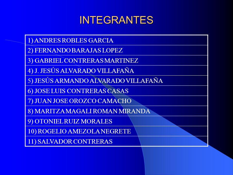 INTEGRANTES 1) ANDRES ROBLES GARCIA 2) FERNANDO BARAJAS LOPEZ