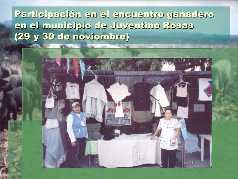 Participación en el encuentro ganadero en el municipio de Juventino Rosas (29 y 30 de noviembre)