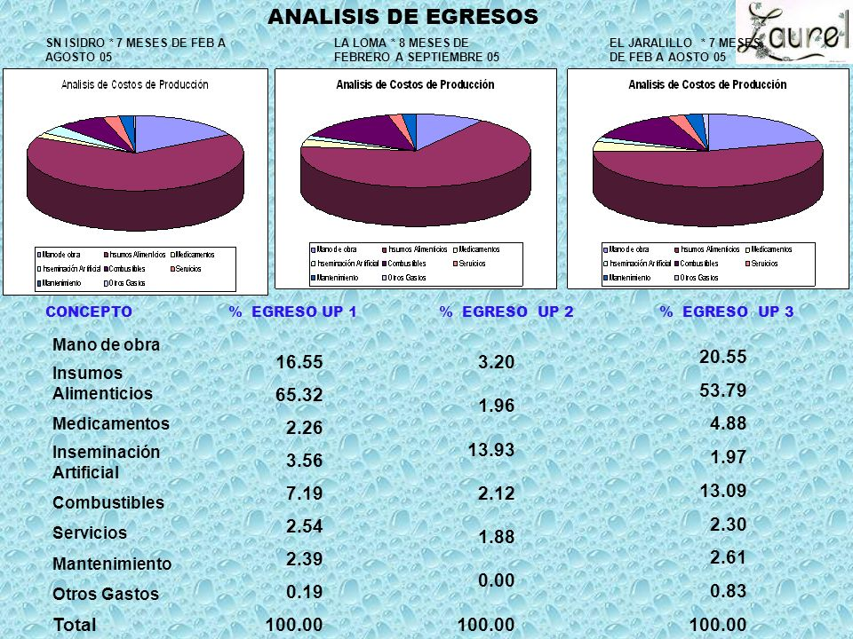 ANALISIS DE EGRESOS Total
