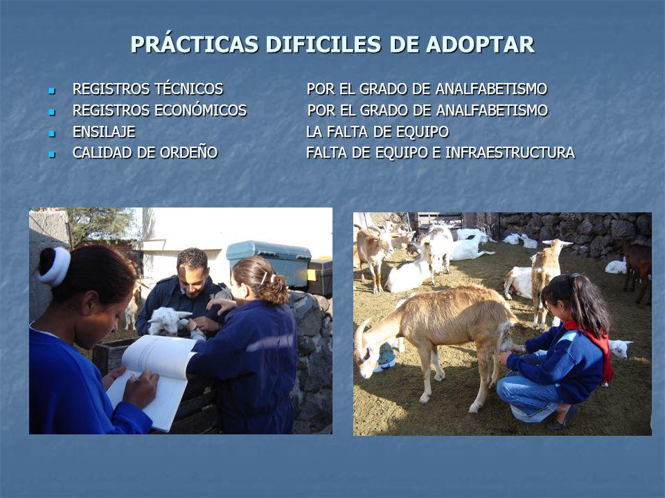 PRÁCTICAS DIFICILES DE ADOPTAR