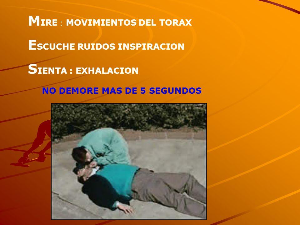 MIRE : MOVIMIENTOS DEL TORAX ESCUCHE RUIDOS INSPIRACION