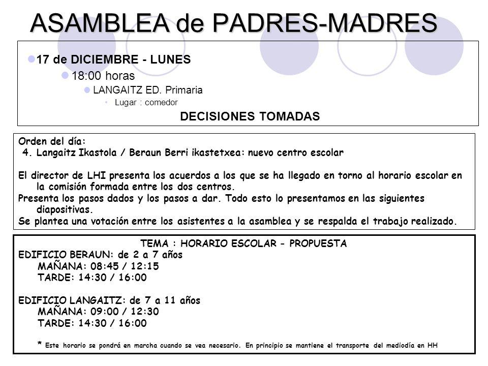ASAMBLEA de PADRES-MADRES