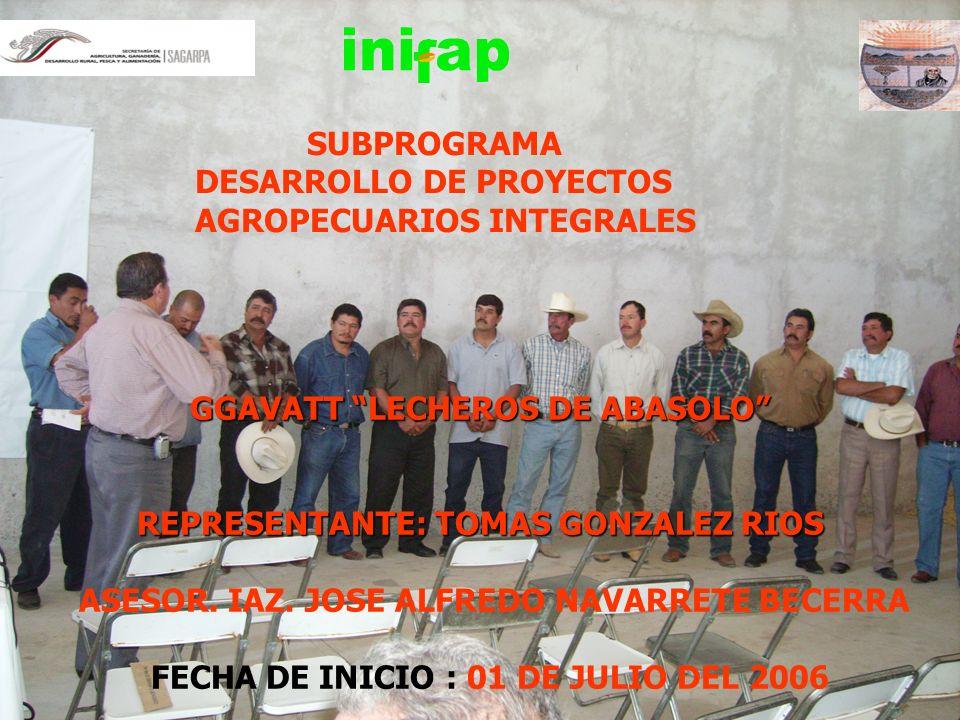 DESARROLLO DE PROYECTOS AGROPECUARIOS INTEGRALES