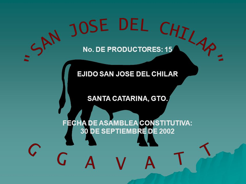 EJIDO SAN JOSE DEL CHILAR FECHA DE ASAMBLEA CONSTITUTIVA: