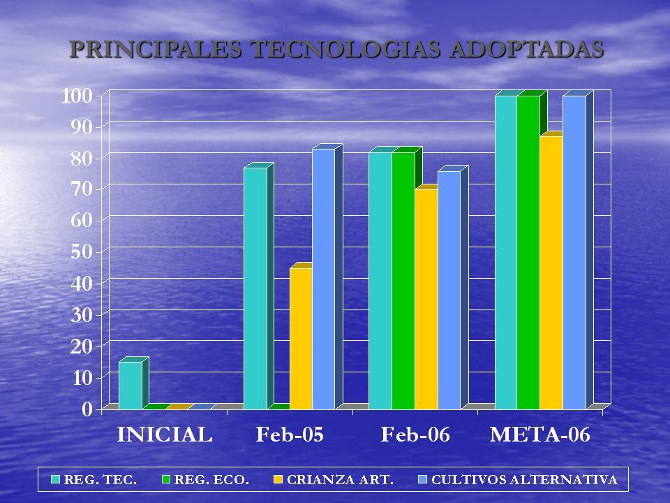 PRINCIPALES TECNOLOGIAS ADOPTADAS