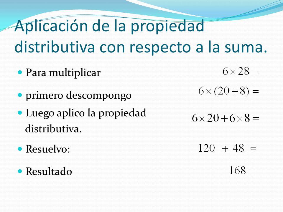 Aplicación de la propiedad distributiva con respecto a la suma.