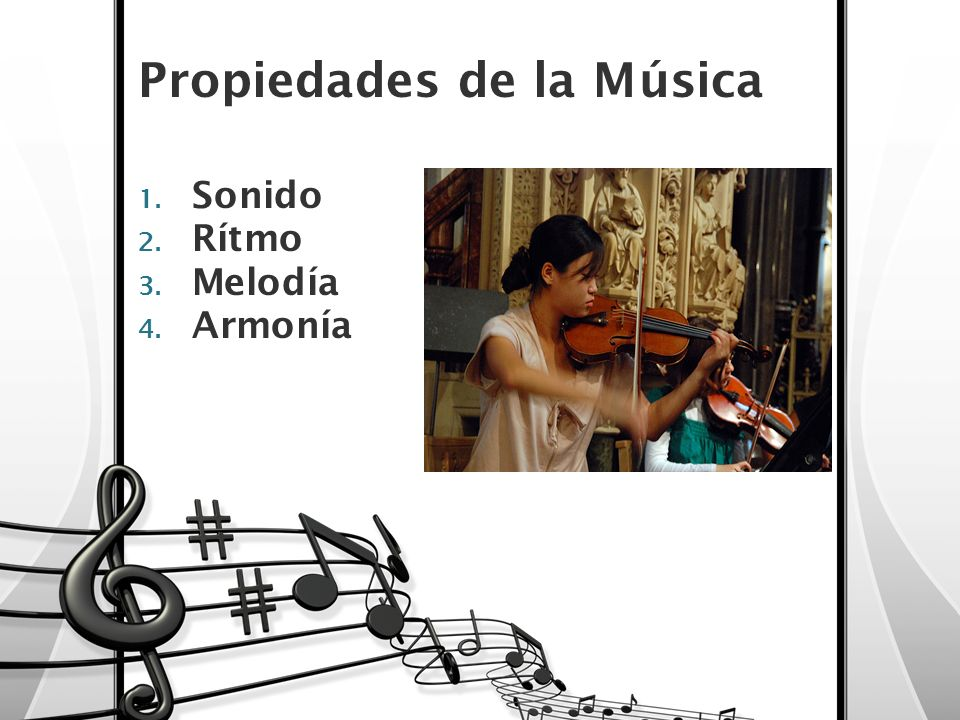 Propiedades de la Música