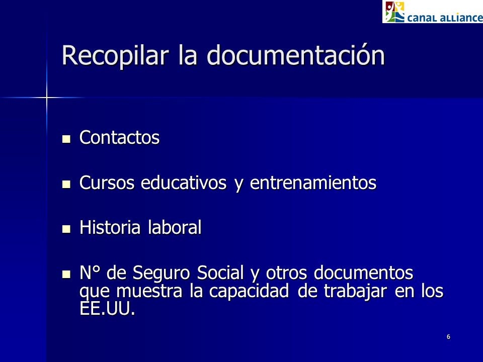 Recopilar la documentación