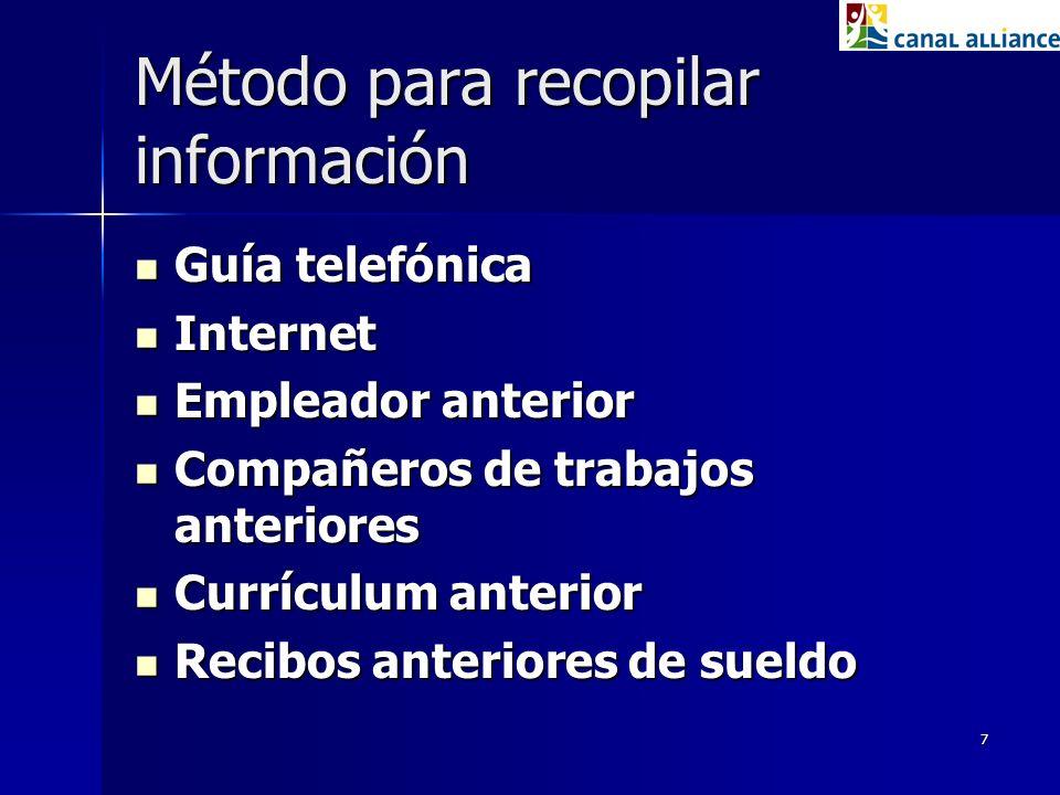 Método para recopilar información