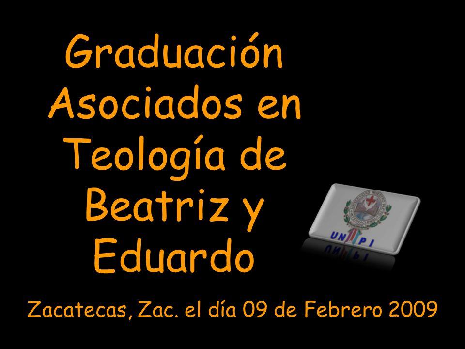Graduación Asociados en Teología de Beatriz y Eduardo