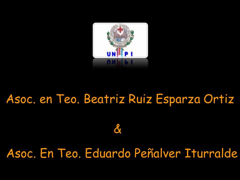 Asoc. en Teo. Beatriz Ruiz Esparza Ortiz