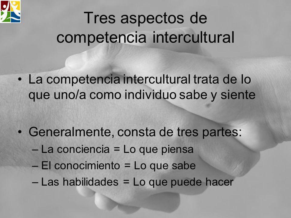 Tres aspectos de competencia intercultural