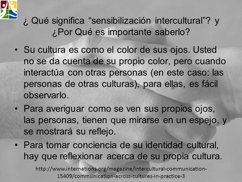 ¿ Qué significa sensibilización intercultural