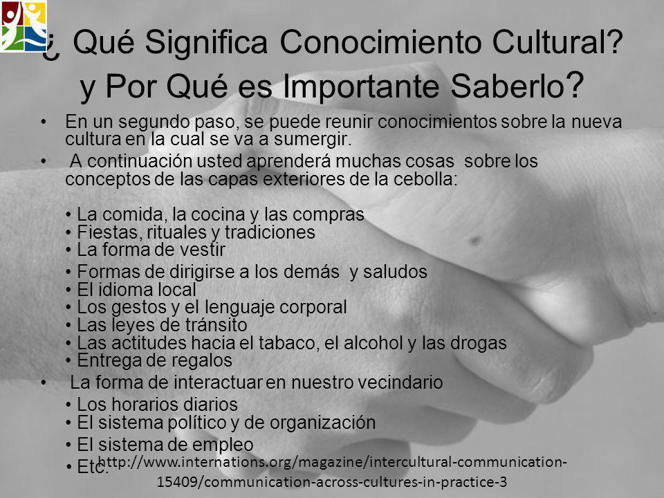 ¿ Qué Significa Conocimiento Cultural y Por Qué es Importante Saberlo