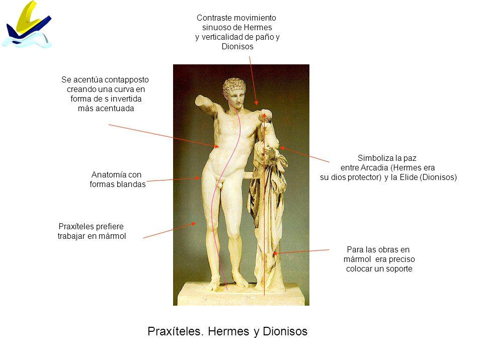 Praxíteles. Hermes y Dionisos