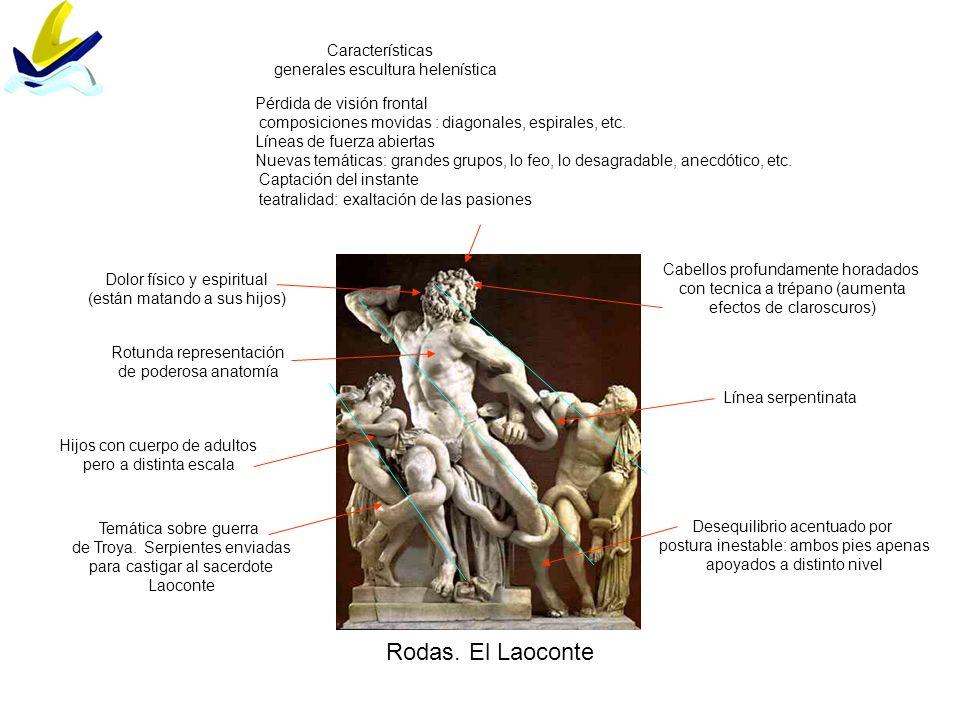 Rodas. El Laoconte Características generales escultura helenística