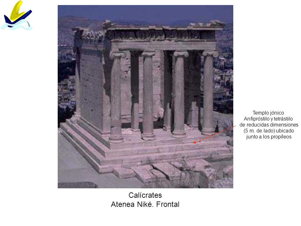 Calícrates Atenea Niké. Frontal Templo jónico
