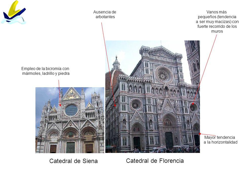 Catedral de Siena Catedral de Florencia Ausencia de arbotantes