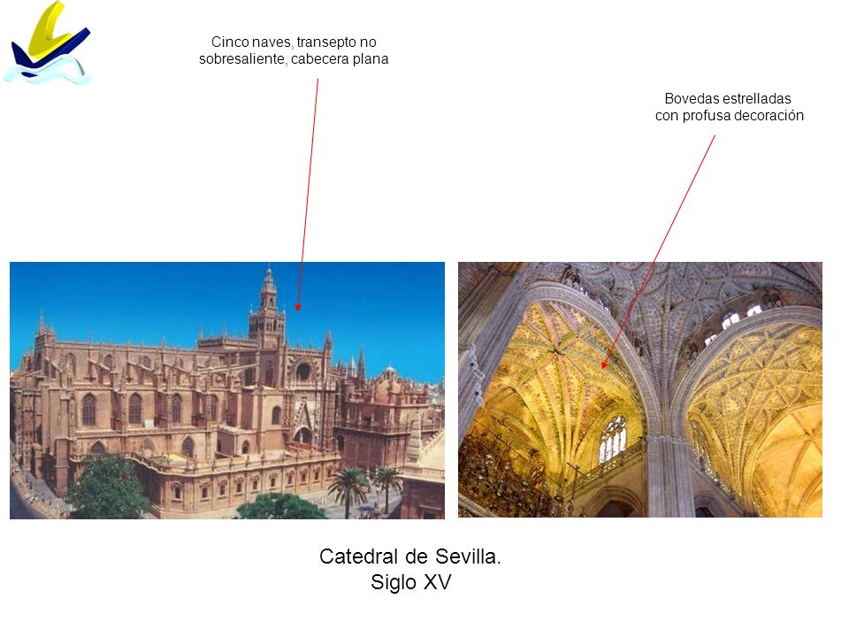 Catedral de Sevilla. Siglo XV Cinco naves, transepto no