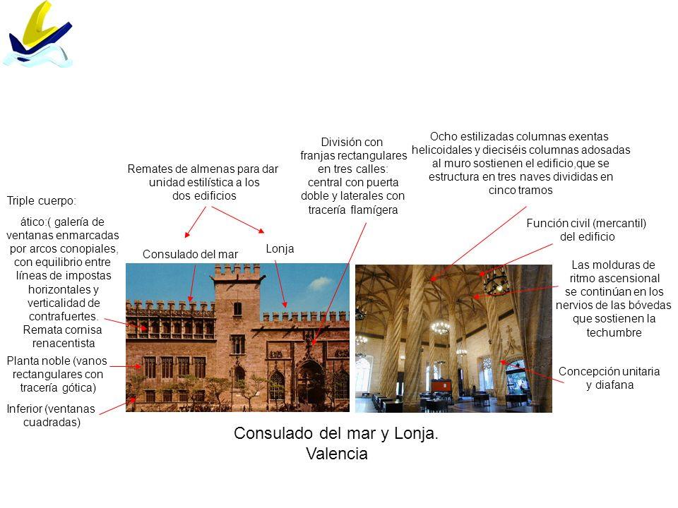 Consulado del mar y Lonja. Valencia