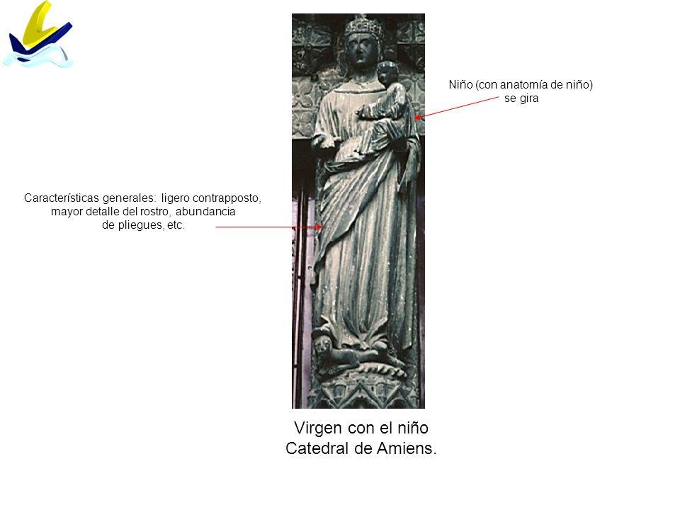Virgen con el niño Catedral de Amiens. Niño (con anatomía de niño)