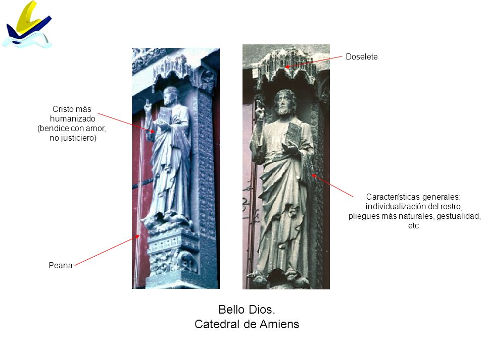 Bello Dios. Catedral de Amiens Doselete Cristo más humanizado