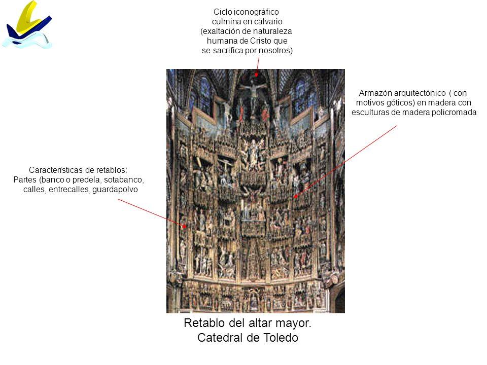 Retablo del altar mayor. Catedral de Toledo