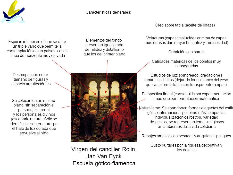 Virgen del canciller Rolin. Jan Van Eyck Escuela gótico-flamenca