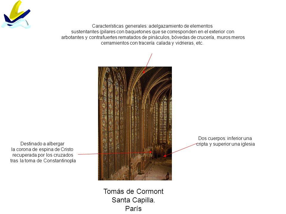Tomás de Cormont Santa Capilla. París