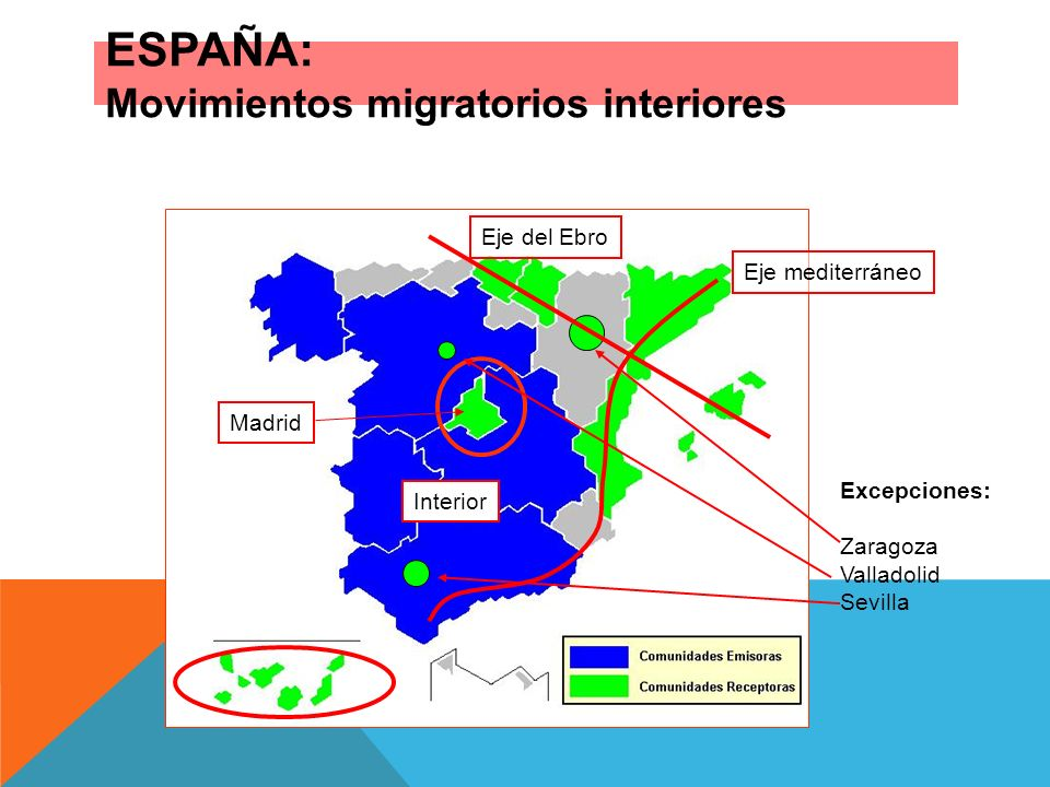 ESPAÑA: Movimientos migratorios interiores