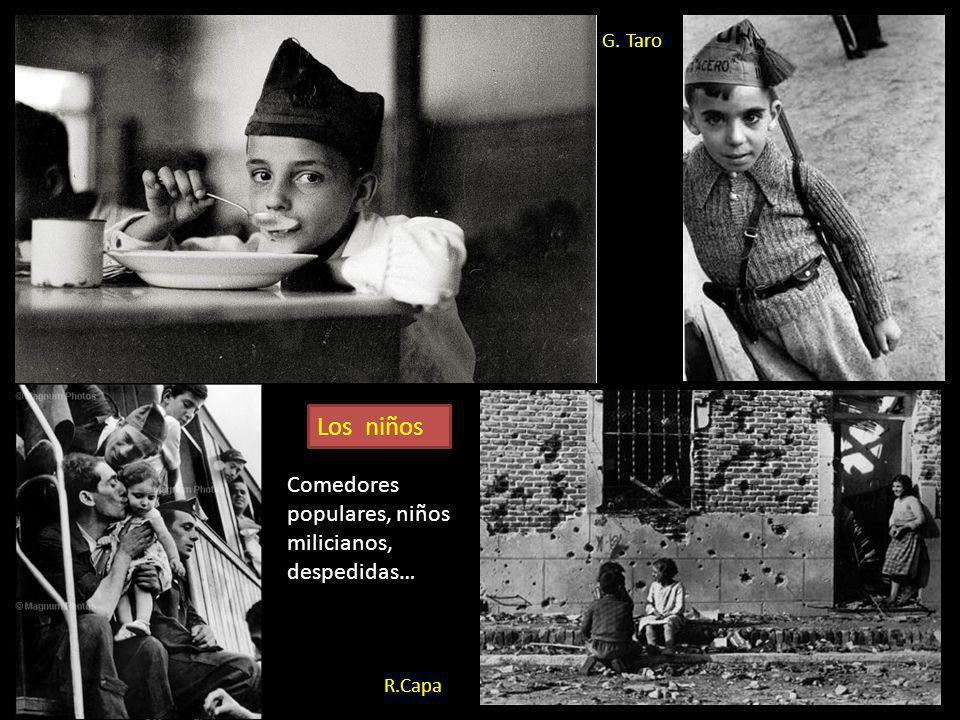Los niños Comedores populares, niños milicianos, despedidas… G. Taro