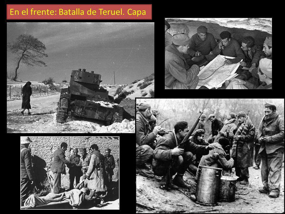 En el frente: Batalla de Teruel. Capa