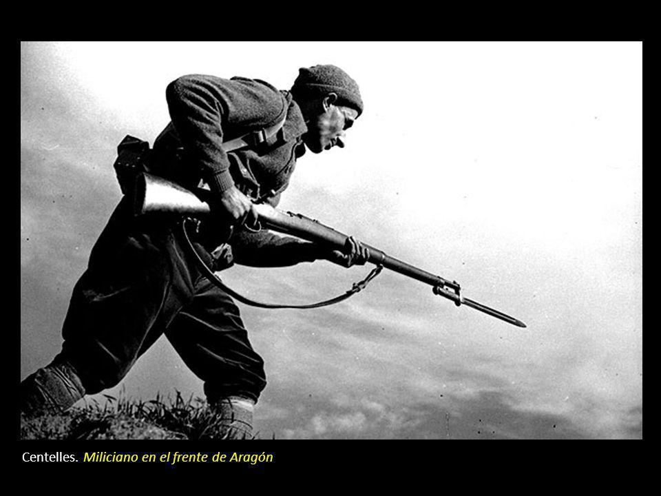 Centelles. Miliciano en el frente de Aragón