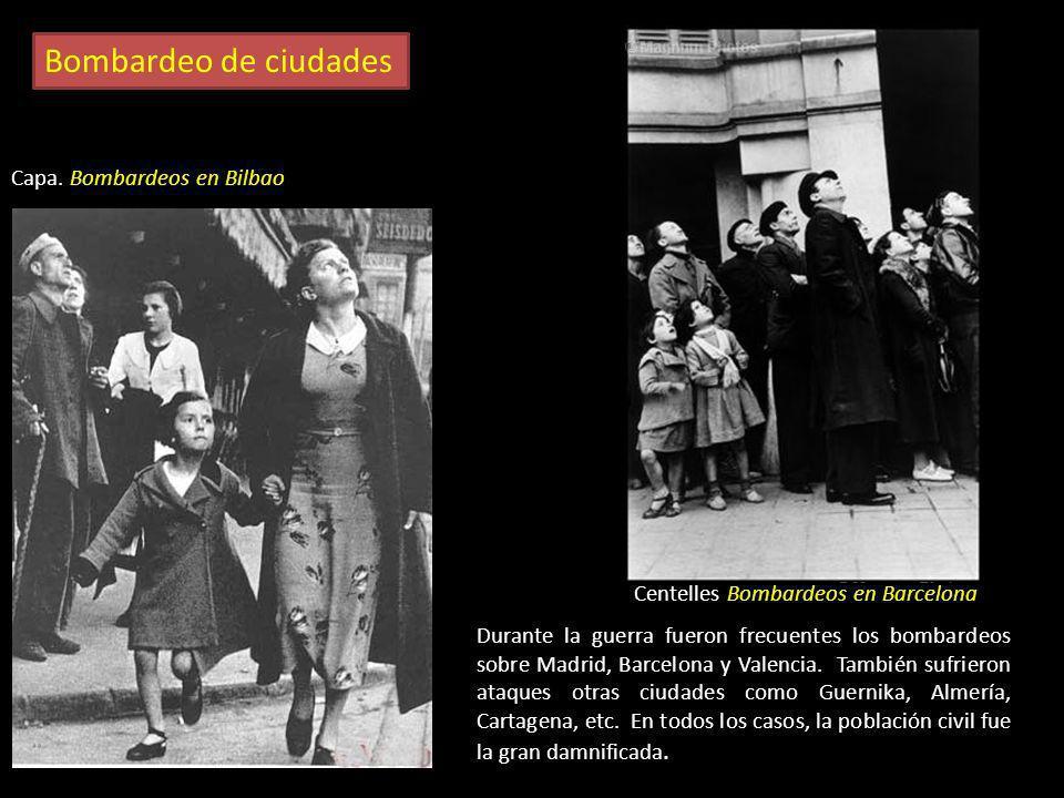 Bombardeo de ciudades Capa. Bombardeos en Bilbao