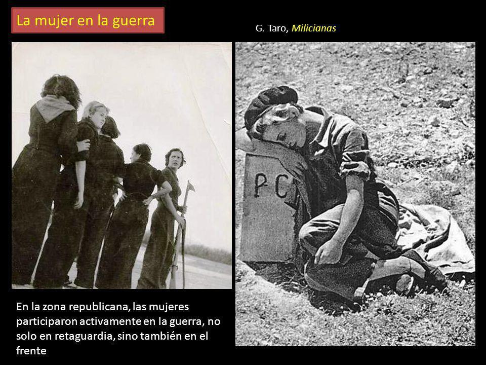 La mujer en la guerra G. Taro, Milicianas.