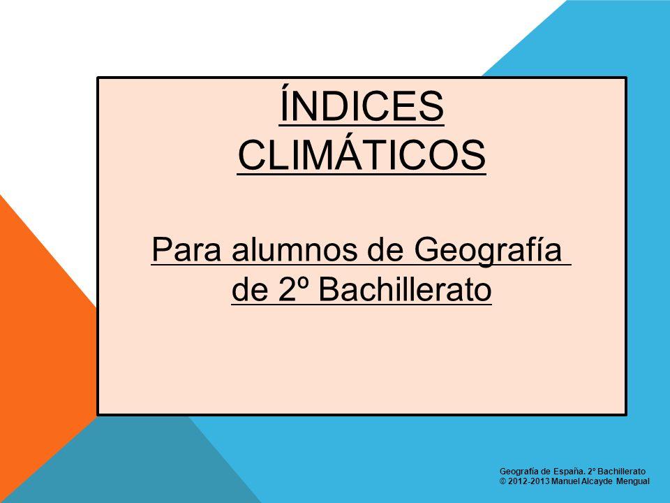Para alumnos de Geografía
