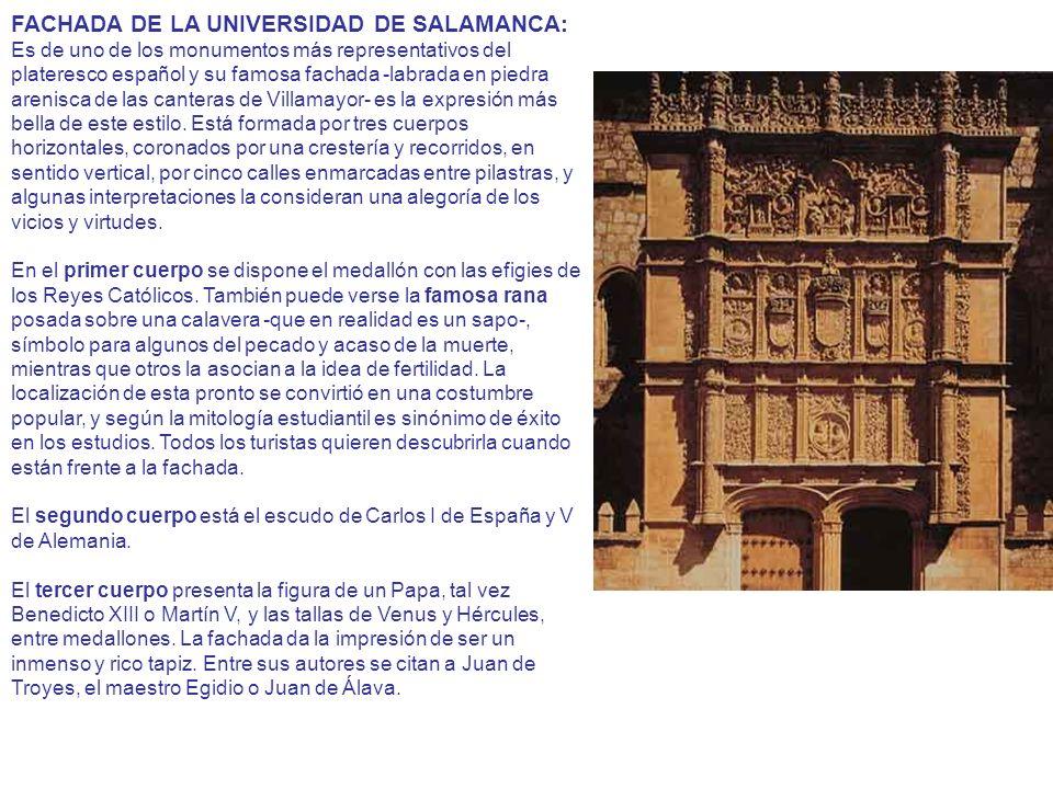 FACHADA DE LA UNIVERSIDAD DE SALAMANCA: