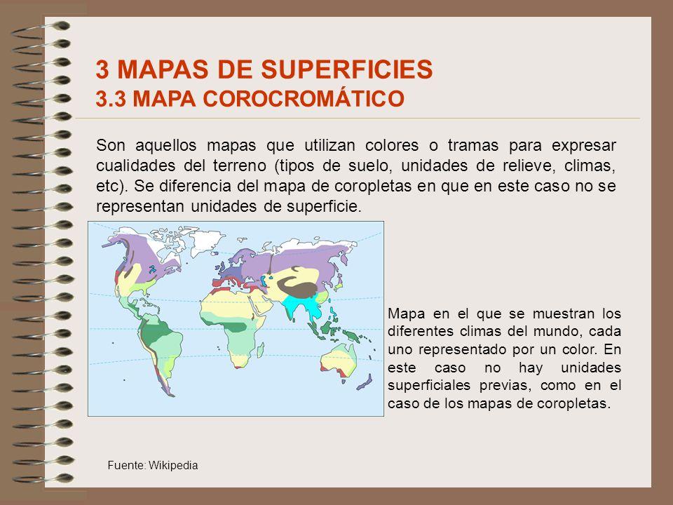 3 MAPAS DE SUPERFICIES 3.3 MAPA COROCROMÁTICO