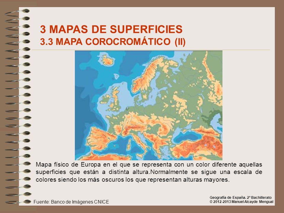 3 MAPAS DE SUPERFICIES 3.3 MAPA COROCROMÁTICO (II)