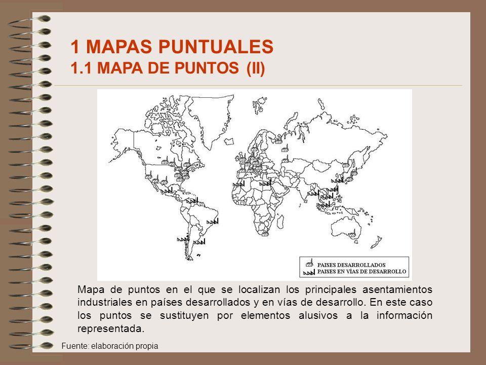 1 MAPAS PUNTUALES 1.1 MAPA DE PUNTOS (II)